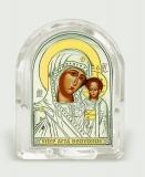 "Икона 5,3x6,7x2,1 ""Казанская"" Богородица (серебро; овал, стекло)"