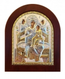 "Икона 15,6x19 ""Всецарица"" Богородица (серебро; деревянная основа)"