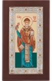 Икона 10,4x17,8 Спиридон Тримифутский (серебро; ростовая))
