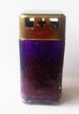 Лампадка фиолетовая со свечой