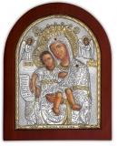 """Икона 20x25 """"Достойно есть"""" Богородица (серебро; деревянная основа)"""