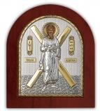 Икона 15,6x19 Андрей Первозванный (серебро; деревянная основа)