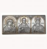 """Икона 7,7 x 3,4 Триптих (""""Казанская"""" Богородица,Иисус ,Св. Николай)"""