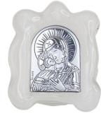 """Икона 4,5x5 """"Владимирская"""" Богородица (серебро; стекло мурано)"""
