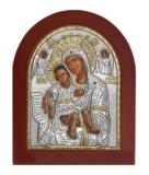 """Икона 8,5x10,5 """"Достойно Есть"""" Богородица (серебро; деревянная основа)"""