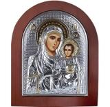 """Икона 20x25 """"Иерусалимская"""" Богородица (серебро; деревянная основа)"""