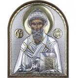 Икона 8,5x10,5 Спиридон Тримифутский (серебро; пластиковая основа)