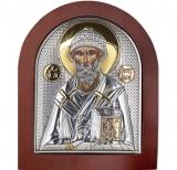 Икона 11x13 Спиридон Тримифутский (серебро; деревянная основа)