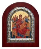"Икона 26x31 ""Всецарица"" Богородица (серебро; житийная)"