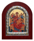 "Икона 11x13 ""Всецарица"" Богородица (серебро; житийная)"