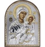 """Икона 8,5x10,5 """"Иверская"""" Богородица (серебро; пластиковая основа)"""