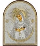 """Икона 5,8x7,5 """"Остробрамская"""" Богородица (посеребрение; пластиковая основа)"""