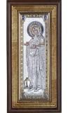 "Икона 11,5x23,5 ""Геронтисса"" Богородица (серебро, рамка)"