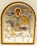 EP3-014PAG. Икона Afon Slver. 85x105. Св.Дмитрий