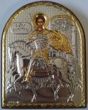 EP3-014XG. Икона Afon Silver. 105x85. Св.Димитрий, шт