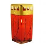 Лампадка красная со свечой